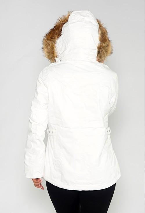 Pamela Scott White Waterproof Jacket