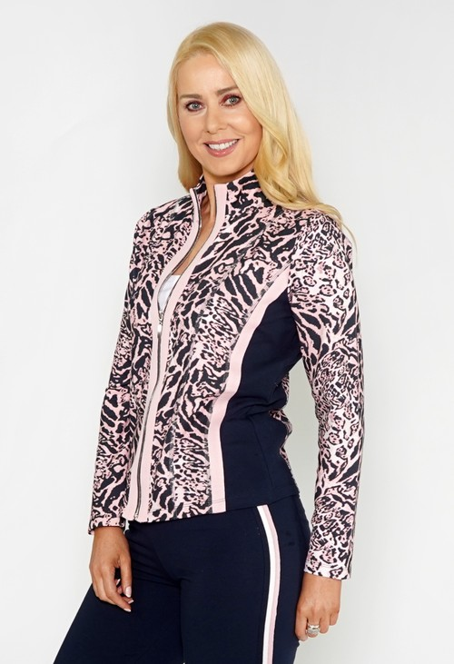 Pamela Scott Animal Print Leisure Jacket