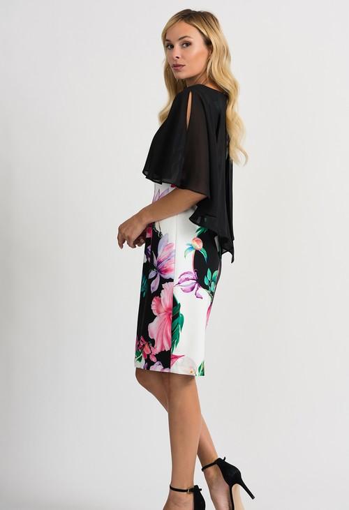 Joseph Ribkoff Black & White Floral Mini Dress