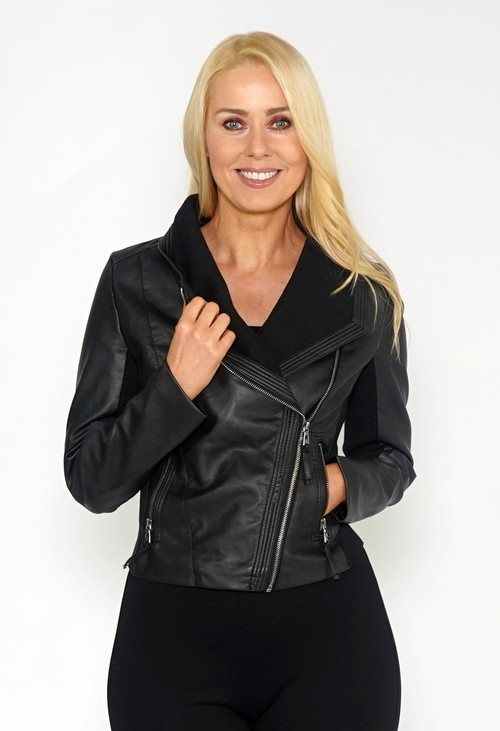 Pamela Scott Black Faux Leather Jacket