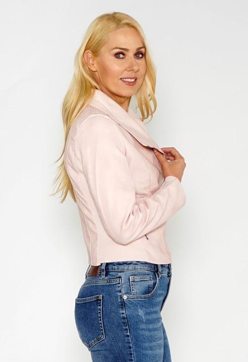 Pamela Scott Light Rose Faux Leather Jacket