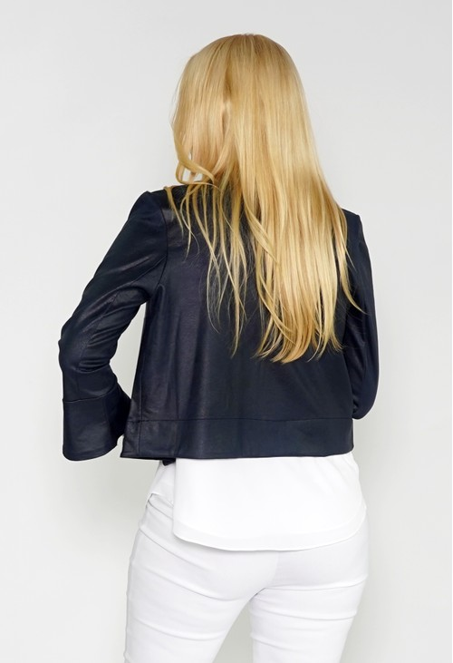 Sophie B Navy Faux Suede Jacket with Silver Detail