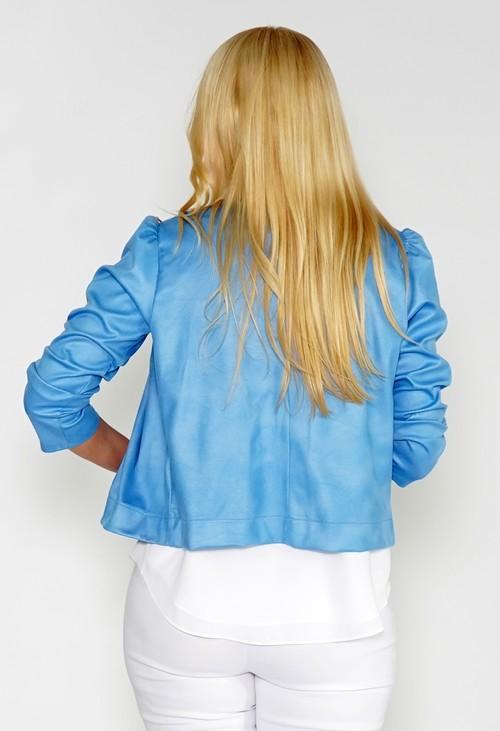 Zapara Blue Cropped Open jacket