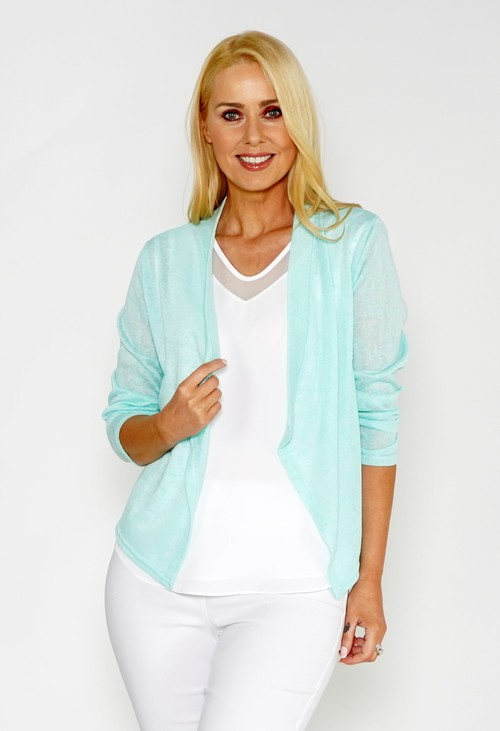 Twist Mint Lightweight Drape Cardi