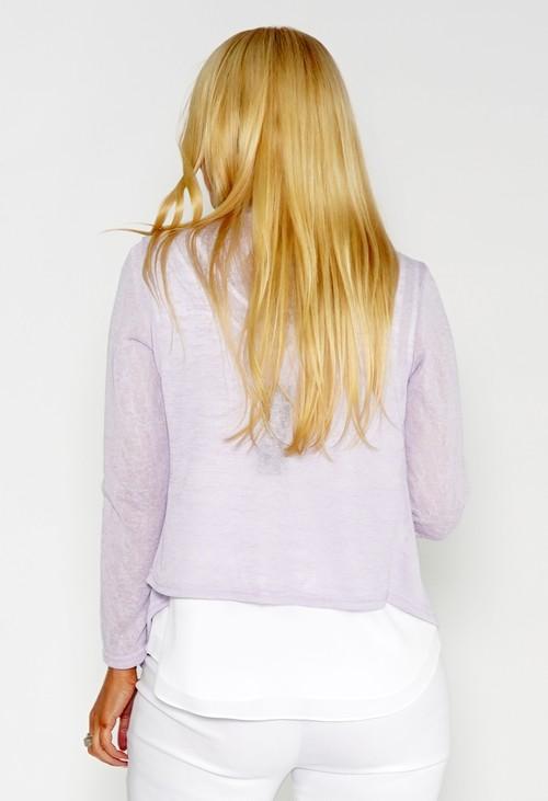 Twist Lilac Lightweight Drape Cardi