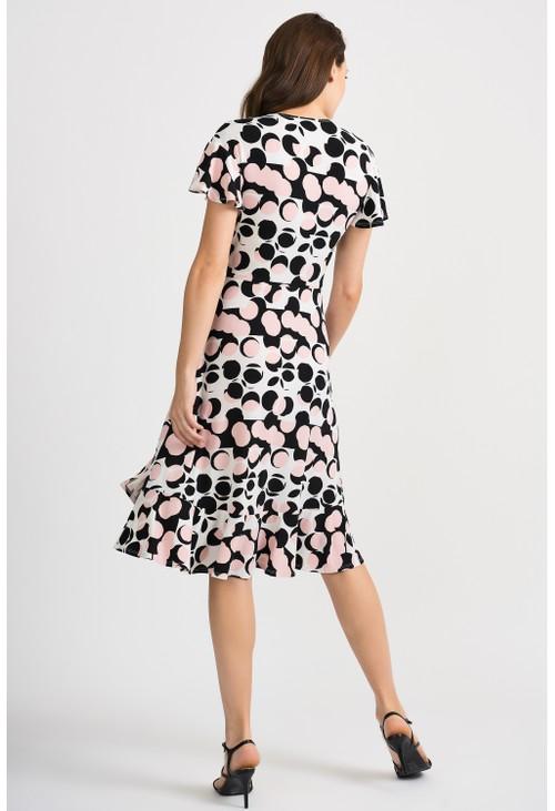 Joseph Ribkoff Polka Dot Wrap Dress