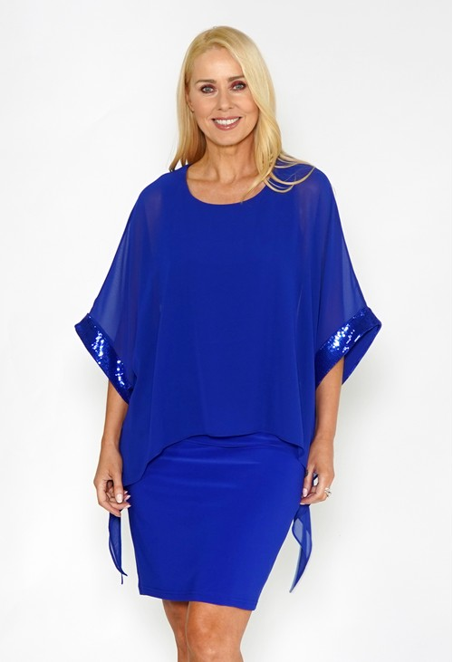Joseph Ribkoff Sheer layered dress