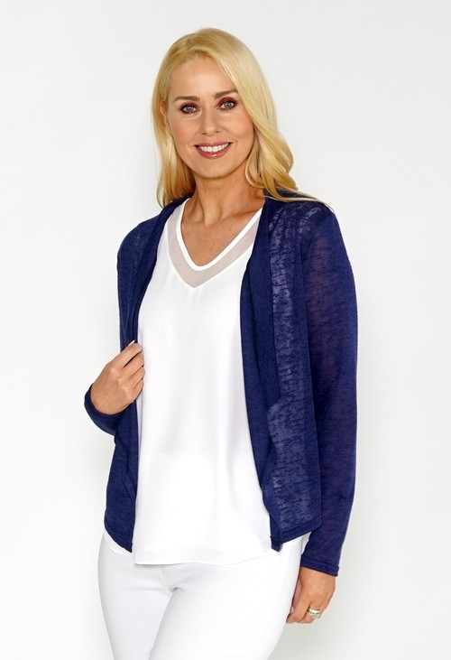 Twist Blue LIGHTWEIGHT DRAPE CARDI
