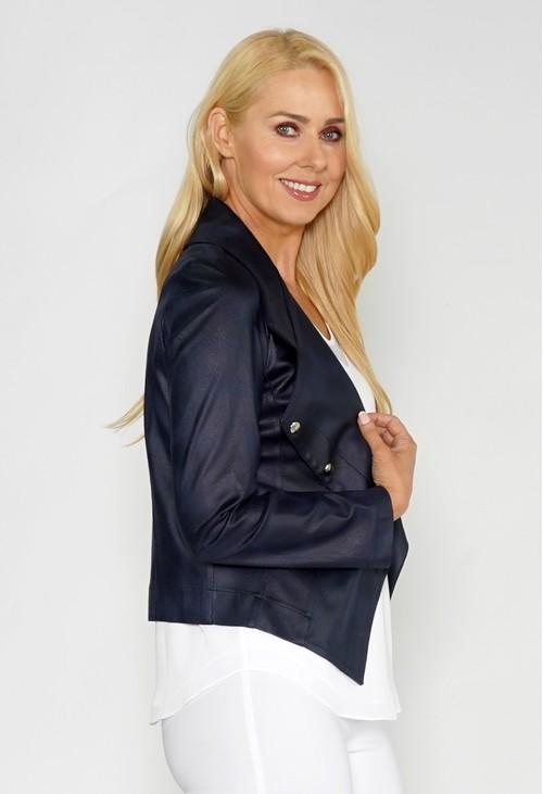 Sophie B Navy Biker Style Jacket