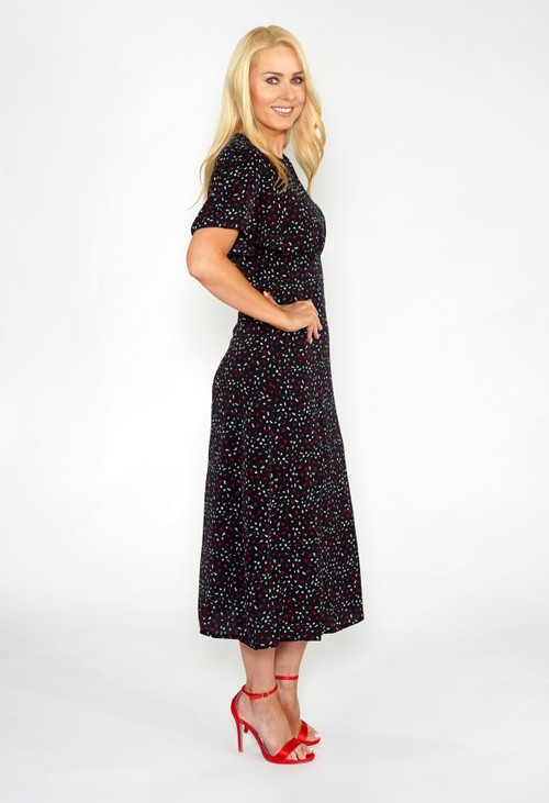 Pamela Scott Animal Spot Midi Dress