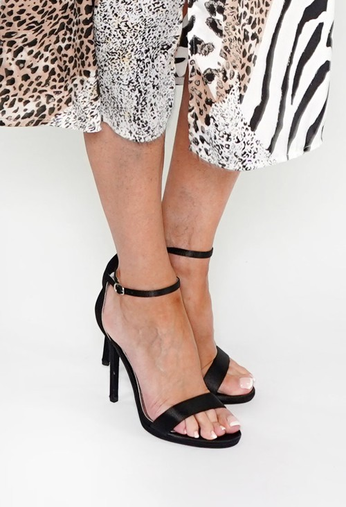 Shoe Lounge BLACK BARELY THERE SANDALS