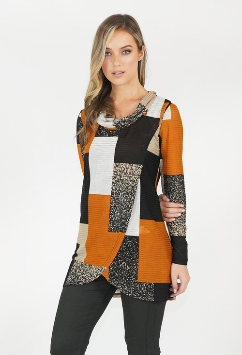 Stella Morgan Multi Colour Rouched Neck Top