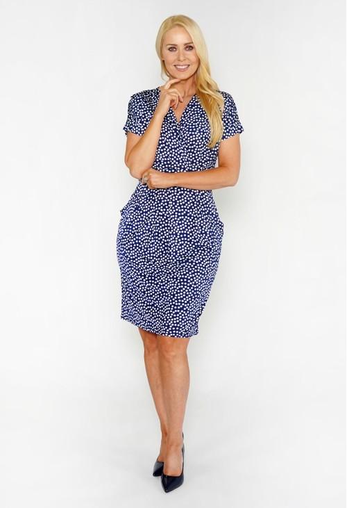Sophie B Polka Dot Dress with Pockets