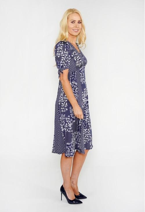 Sophie B Mixed Print A-Line Dress