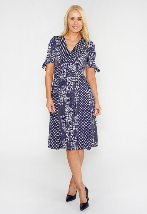 Sophie B Mixed Print A-Line Dress