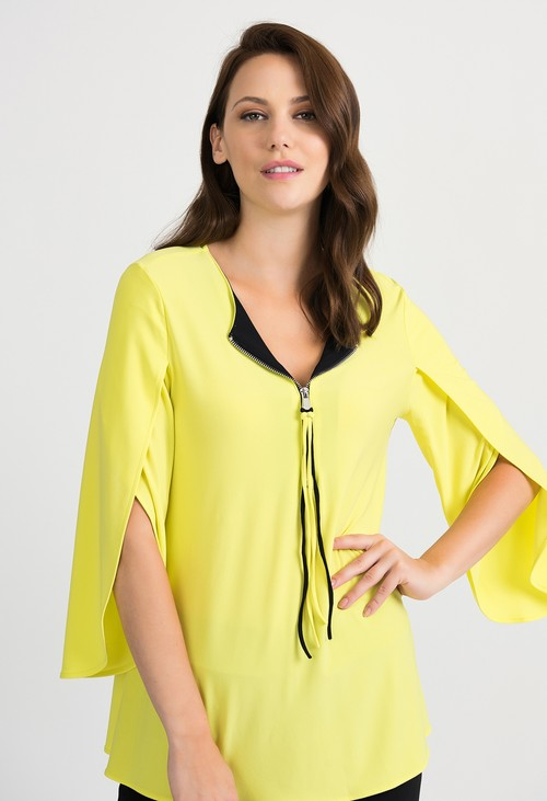 Joseph Ribkoff V-neck Zest Yellow Tunic