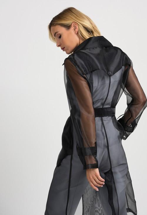 Joseph Ribkoff Sheer Black Jacket