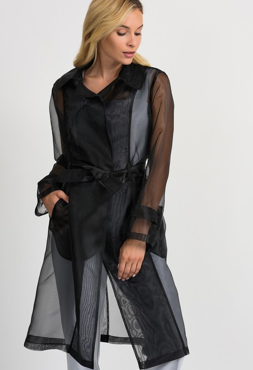 Joseph Ribkoff Sheer Black Jacket