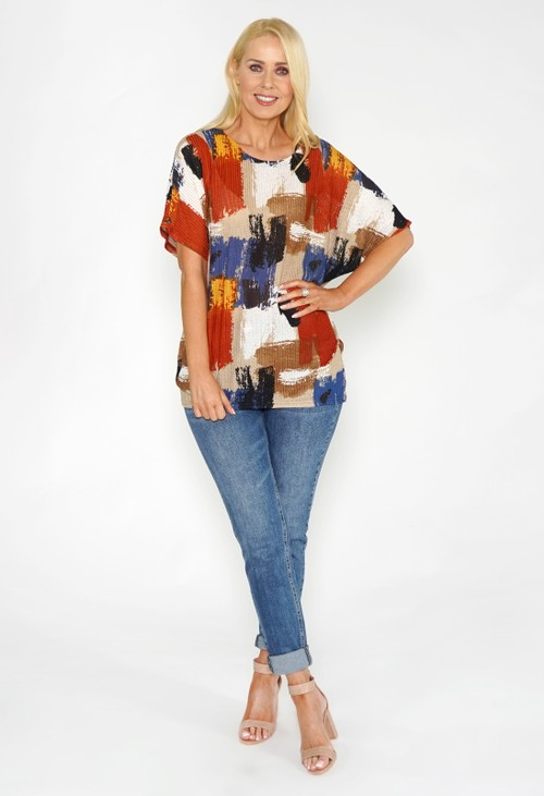 Stella Morgan Multicolured Stretch Tee