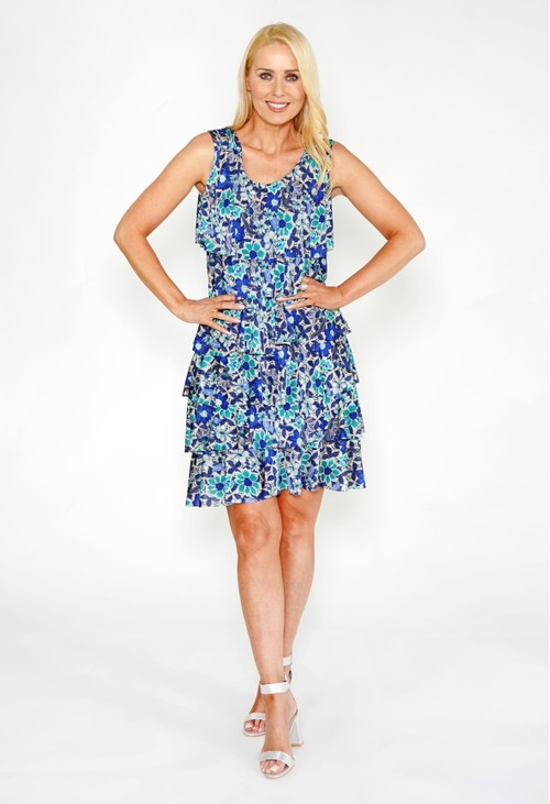 Zapara Floral Layered Dress