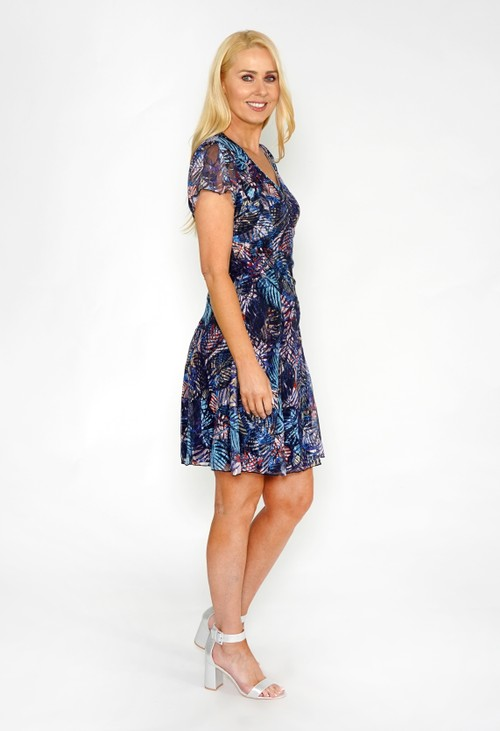 Sophie B Floral Print Fit and Flare Dress