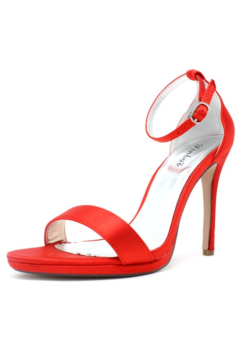 Shoe Lounge Red BARELY THERE SANDALS