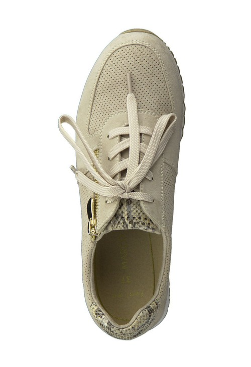 Marco Tozzi Nude Laced Trainer