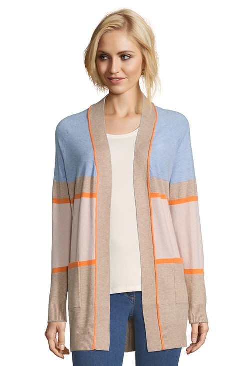 Betty Barclay Camel/Rose Casual Cardigan