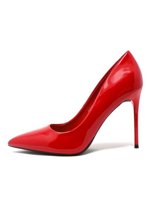 Pamela Scott Red Patent Stiletto