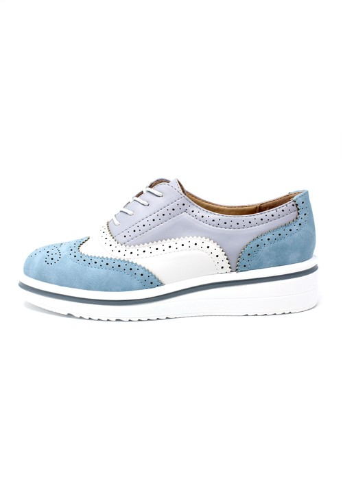 Pamela Scott Blue Brogues