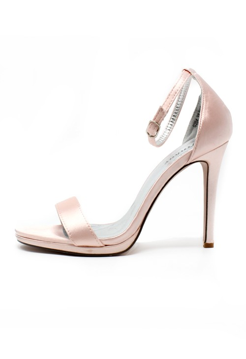 Pamela Scott Pink Barely There Sandals