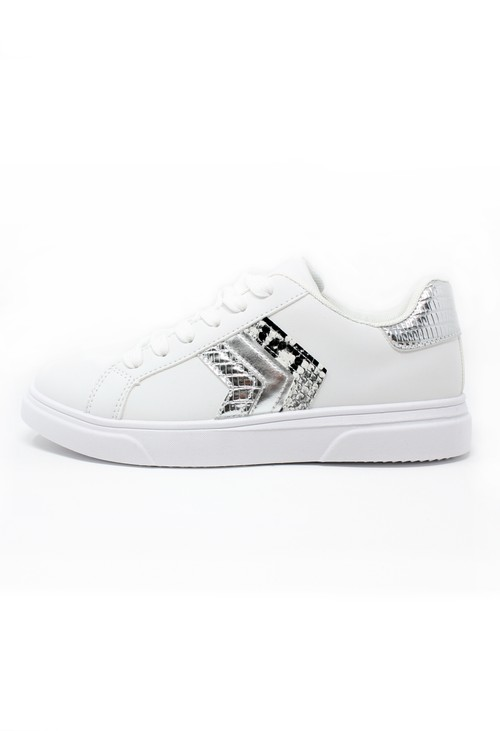 Pamela Scott Silver Chevron Detail Trainer