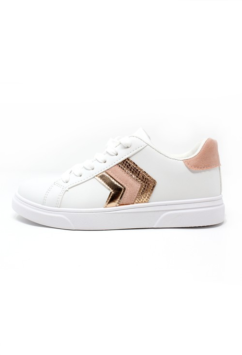 Pamela Scott Pink Chevron Detail Trainer