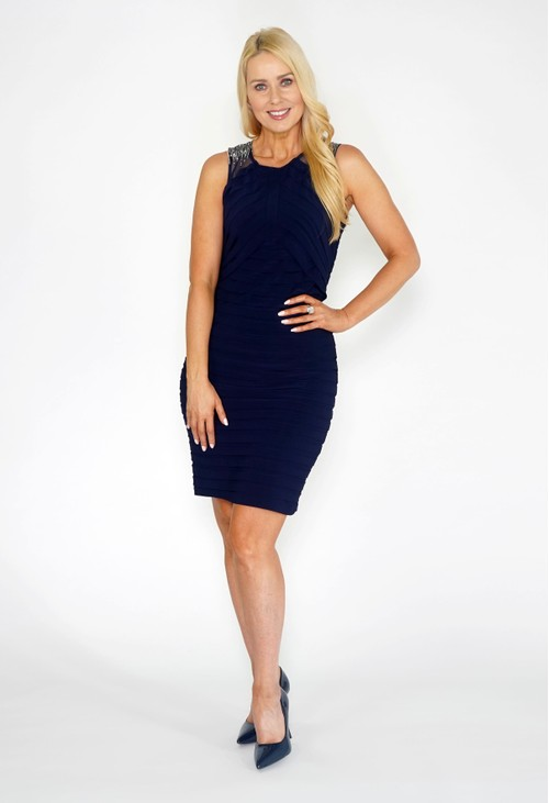 Scarlett Navy Diamonte Dress