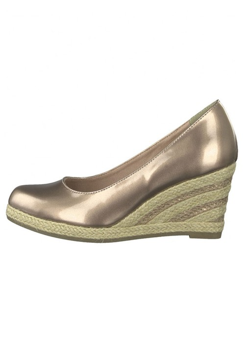 Marco Tozzi Rose Patent Espadrille Wedge