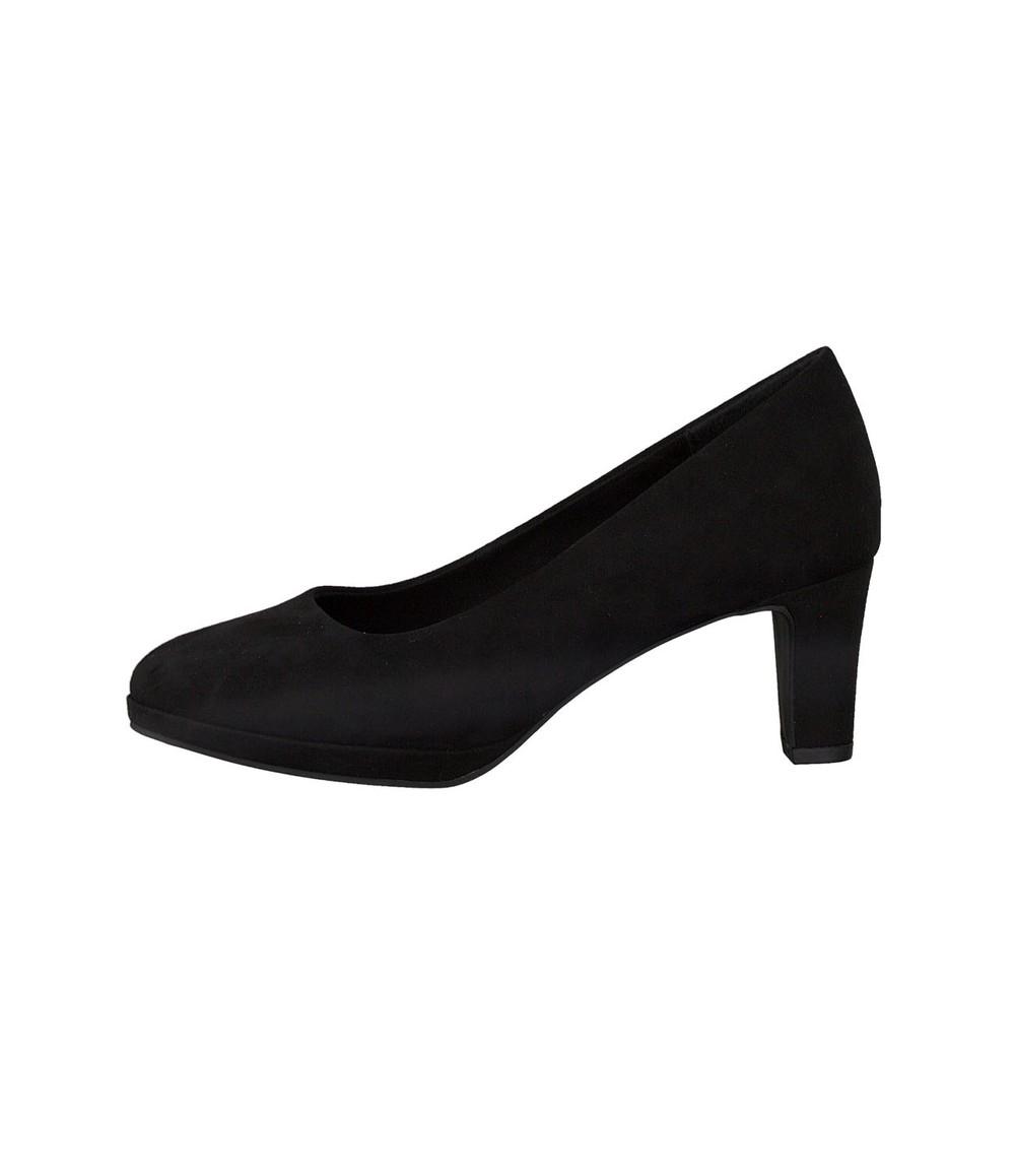 Marco Tozzi Black Court Shoe