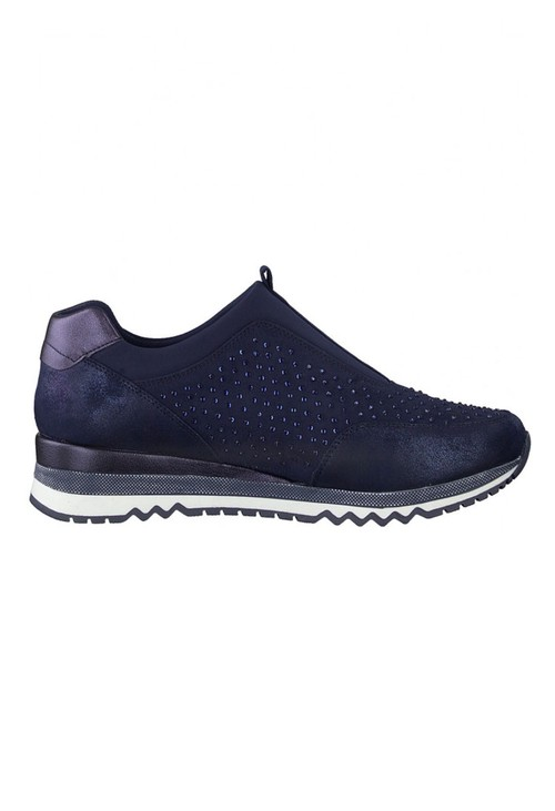 Marco Tozzi Navy Pull-On Trainer