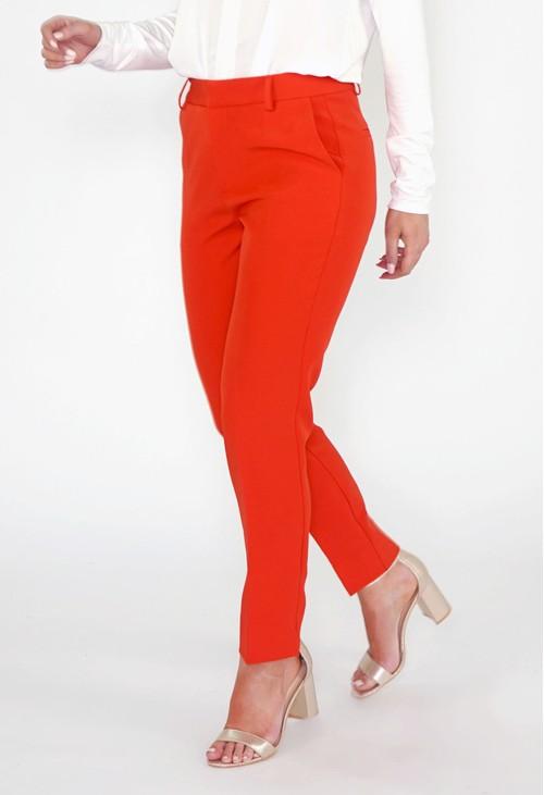 Pamela Scott Flame Red Trousers