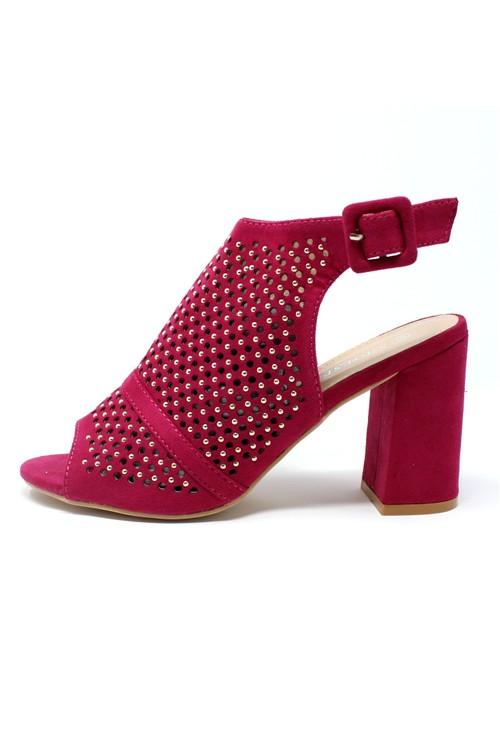 Pamela Scott Pink Cut Out Boot