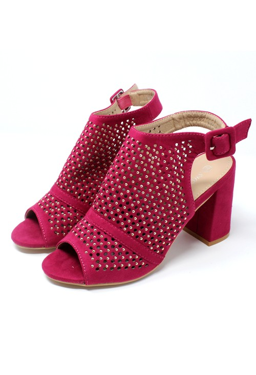 Pamela Scott Pink Cut Out Boot