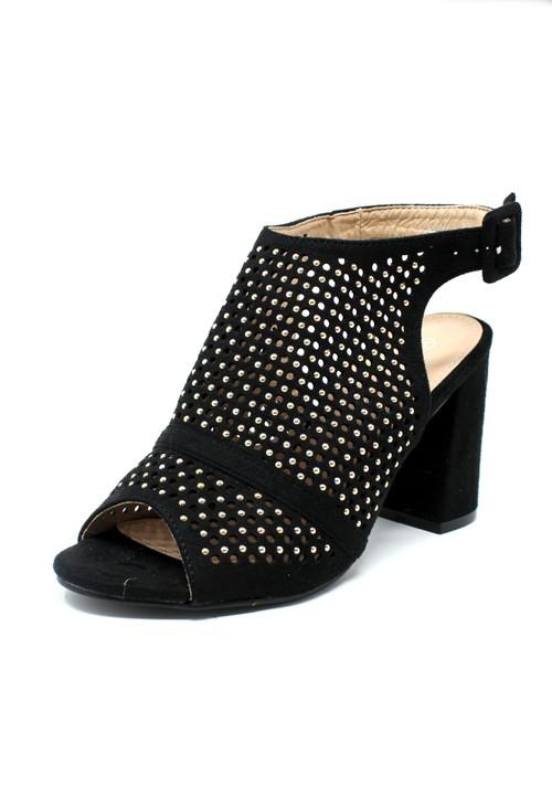 Shoe Lounge Black Cut Out Boot