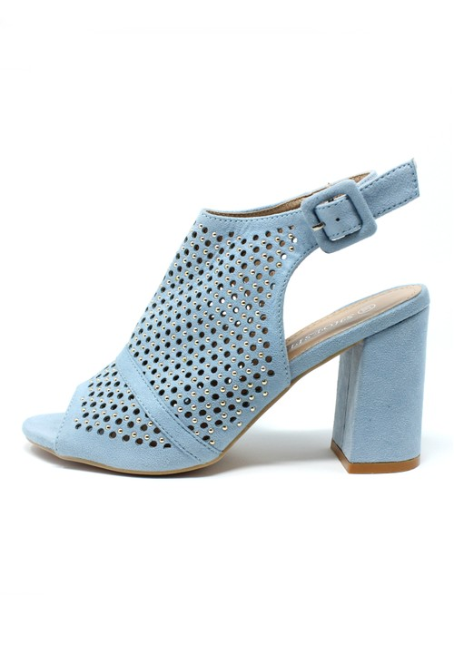 Pamela Scott Blue Cut Out Boot