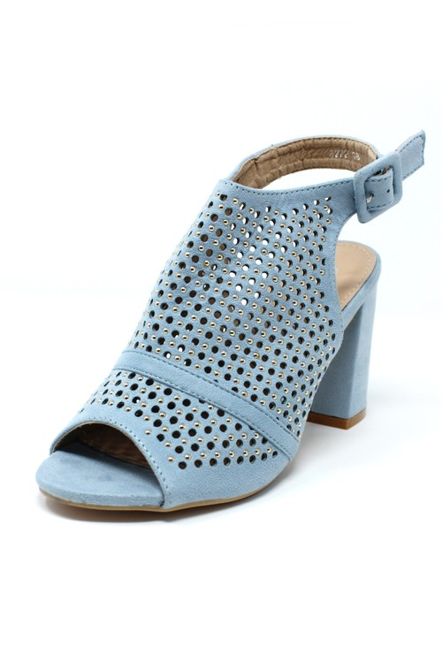 Shoe Lounge Blue Cut Out Boot