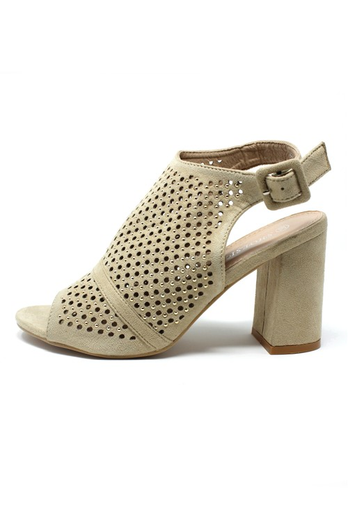 Shoe Lounge Beige Cut Out Boot