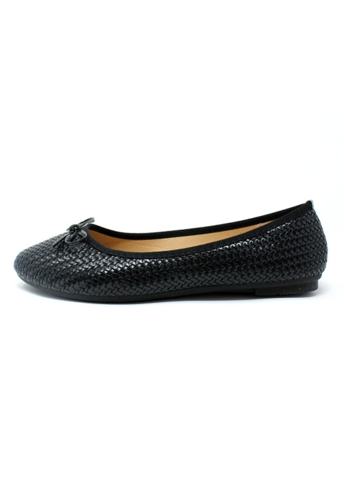 Shoe Lounge Black Woven Effect Pump