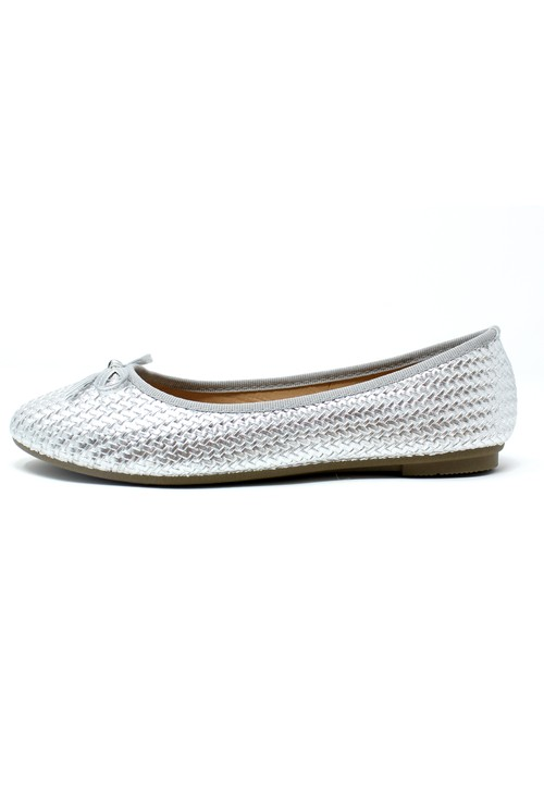 Shoe Lounge Silver Woven Effect Pump