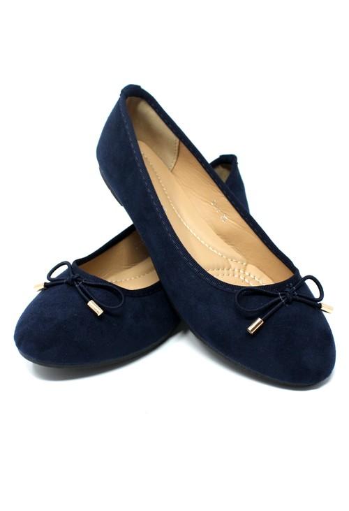 Shoe Lounge Navy Ballerina Pumps