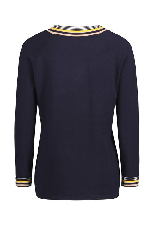 Betty Barclay Dark Blue V-Neck Sweater