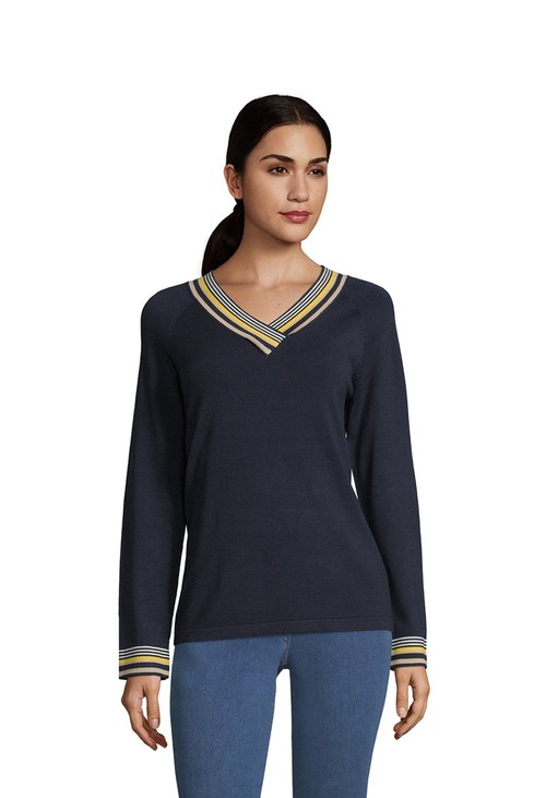 Betty Barclay Dark Blue V-Neck Sweater
