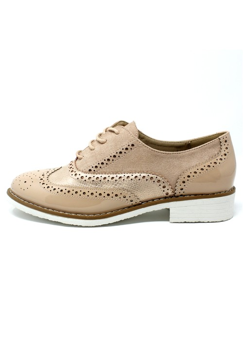 Pamela Scott Blush Brogues